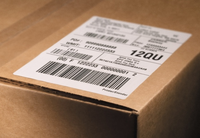 word shipping label